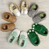 MOC HAPPENS™ Leather Baby Moccasins- Ritzy Dot