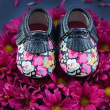 MOC HAPPENS™ Leather Baby Moccasins- Posy Pop