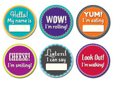 Sticky Bellies Milestone Mementos Stickers- Cute as a Button Baby Boutique
