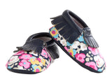 MOC HAPPENS™ Leather Baby Moccasins- Posy Pop- Cute as a Button Baby Boutique