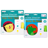 Soft Chomp Ouchless Infant & Toddler Toothbrush + Teethable Book- Cute as a Button Baby Boutique