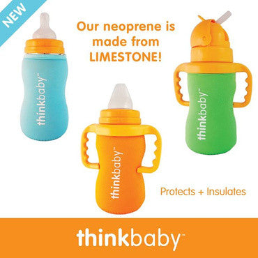 Limestone Thermal Bottle Sleeve for Thinkbaby Bottles/Cups -Multiple Colors- Cute as a Button Baby Boutique
