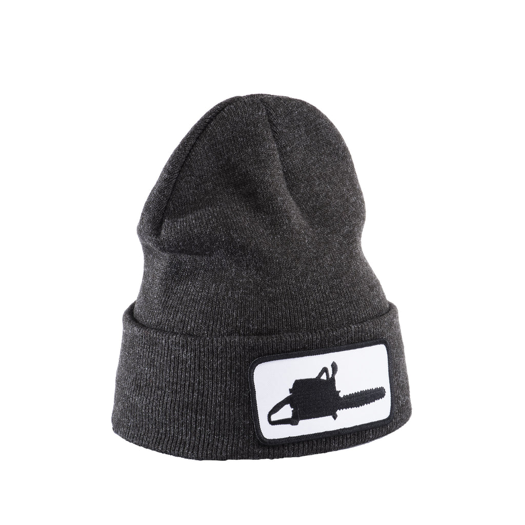 Chainsaw Patch Dark Grey Beanie