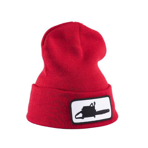 Chainsaw Patch Red Beanie