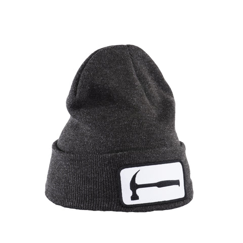 Hammer Patch Dark Grey Beanie