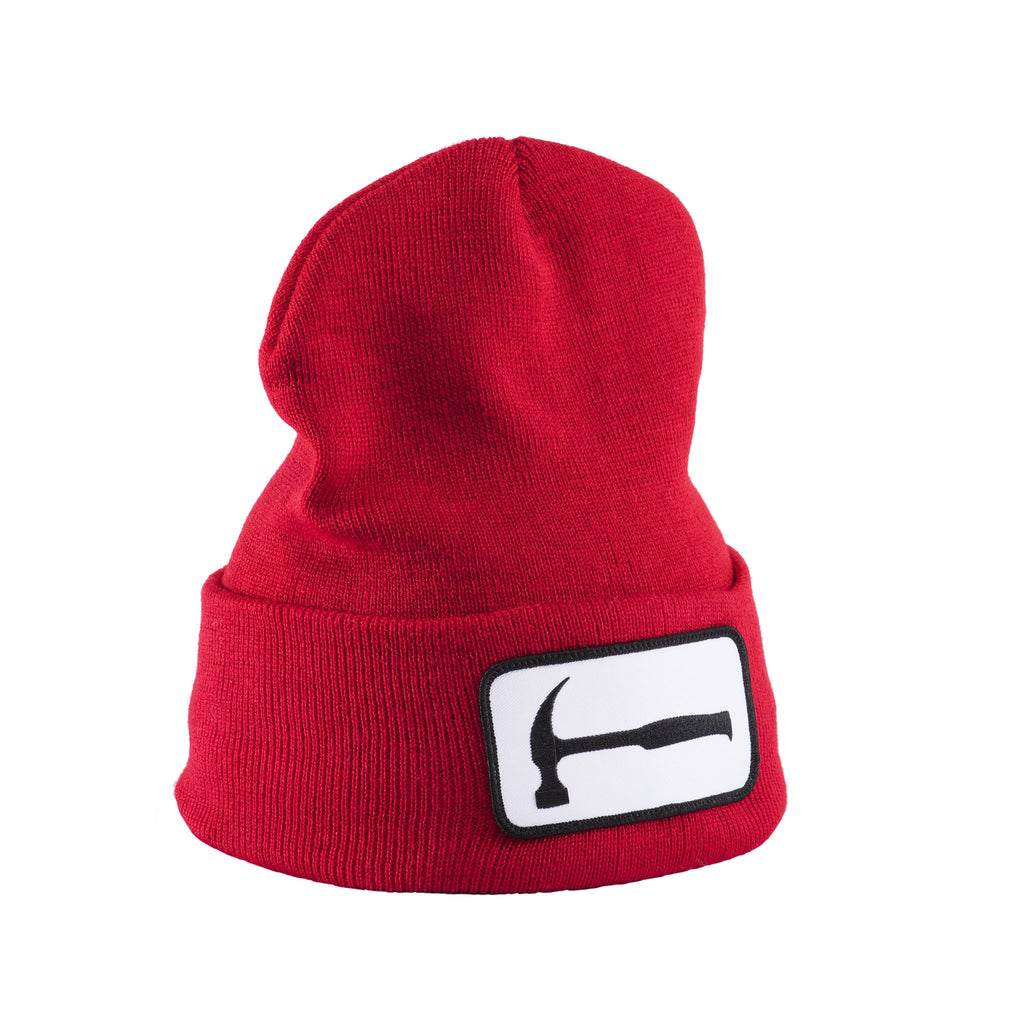 Hammer Patch Red Beanie