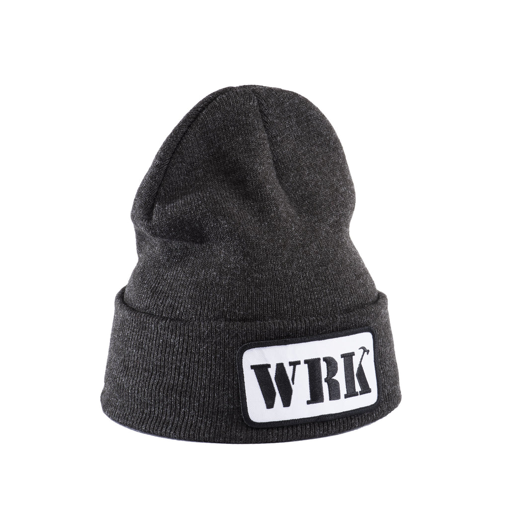 WRK Patch Dark Grey Beanie