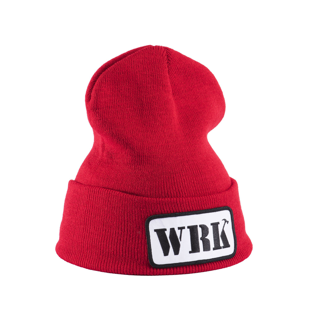 WRK Patch Red Beanie