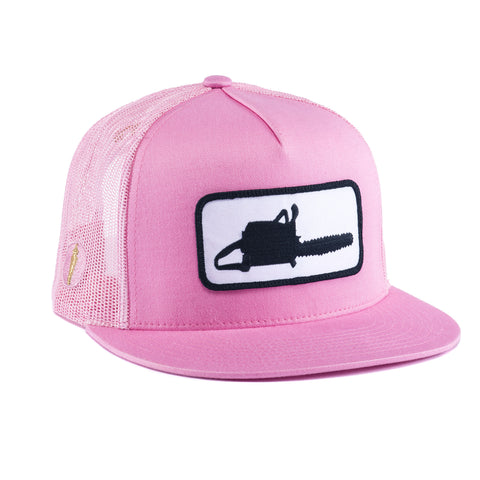 CHAINSAW MESH HAT PINK