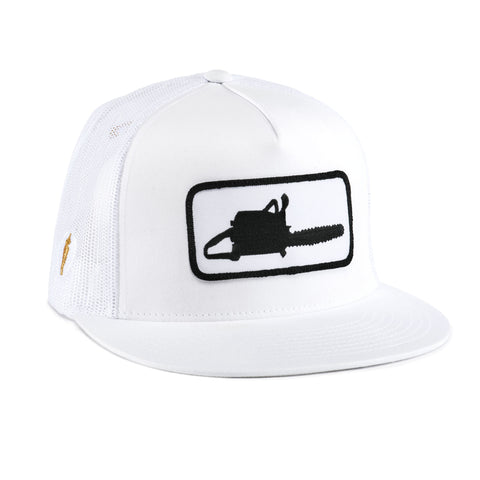CHAINSAW MESH HAT WHITE