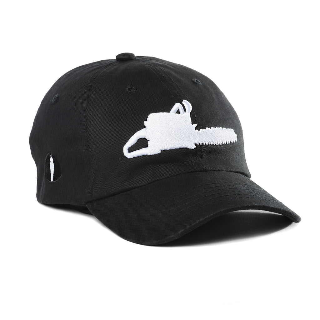 Chainsaw Strapback Hat Black