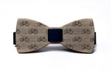 Bicycle Wooden Bow Tie