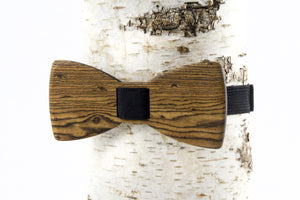 Natural Bocote Wood Bow Tie