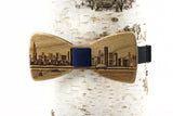 Chicago Skyline Wooden Bow Tie