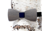 Halftone Wooden Bow Tie
