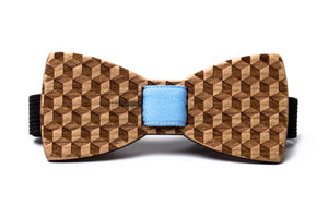 Illusion Wooden Bow Tie