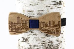 Kansas City Wooden Bow Tie