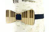 Piano Keys Wooden Bow Tie
