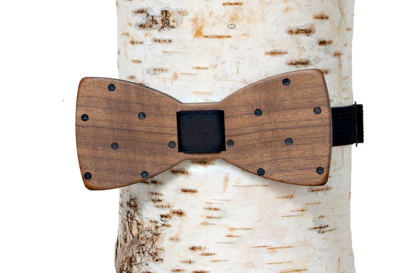 Big Polka Dot Wooden Bow Tie