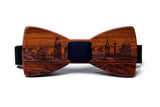 San Antonio Skyline Wooden Bow Tie