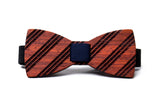 Stripes Wooden Bow Tie