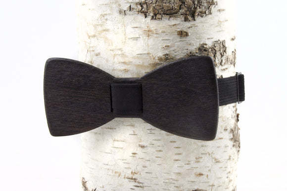 Natural Wenge Wood Bow Tie