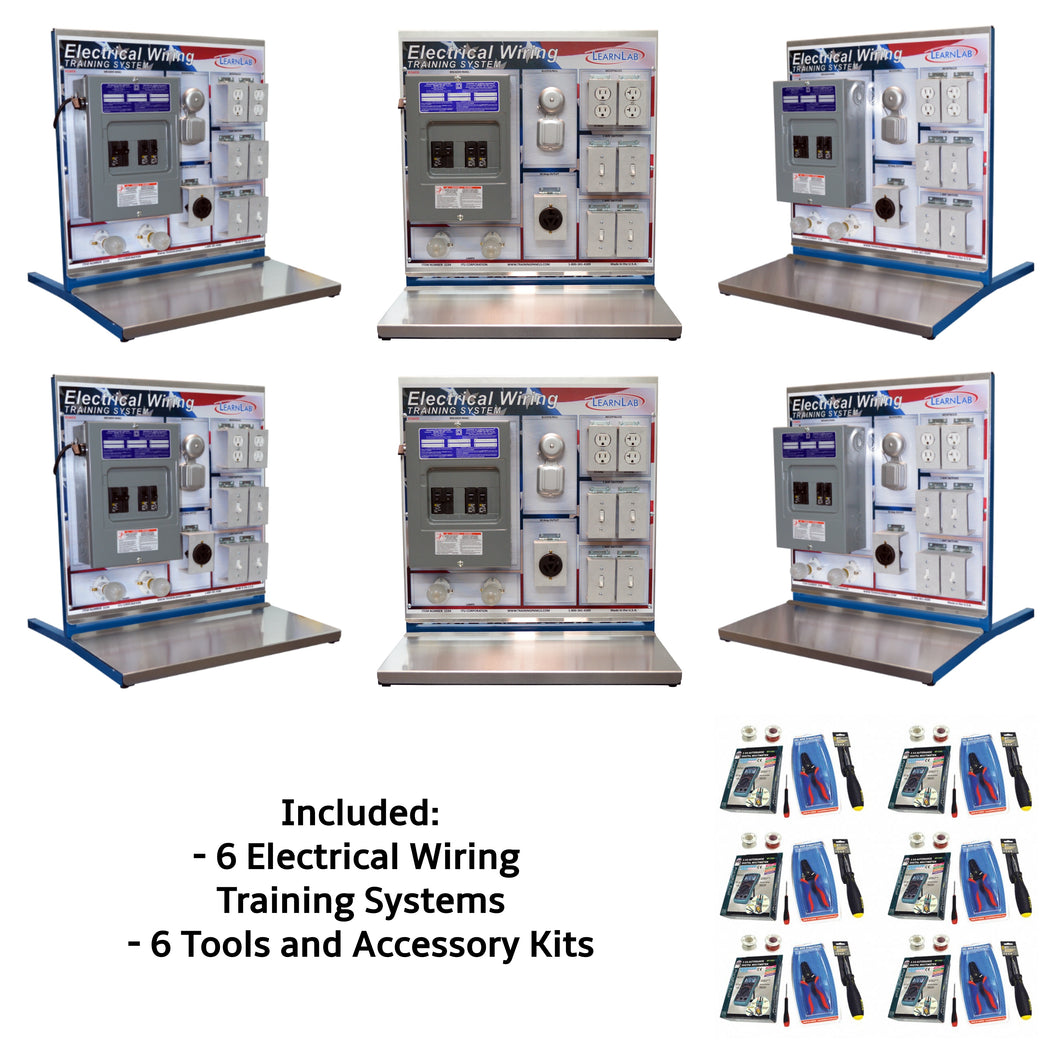Electrical Wiring Training Systems, 6PK