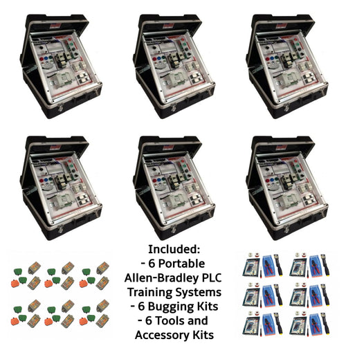 Portable Allen-Bradley PLC Micro 820 Training Systems, 6PK