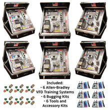Load image into Gallery viewer, Portable Allen-Bradley VFD PowerFlex 4 Training Systems, 6 PK