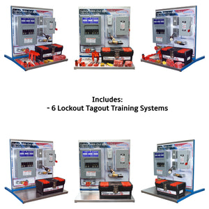 Safety Lockout Tagout Training Systems, 6PK