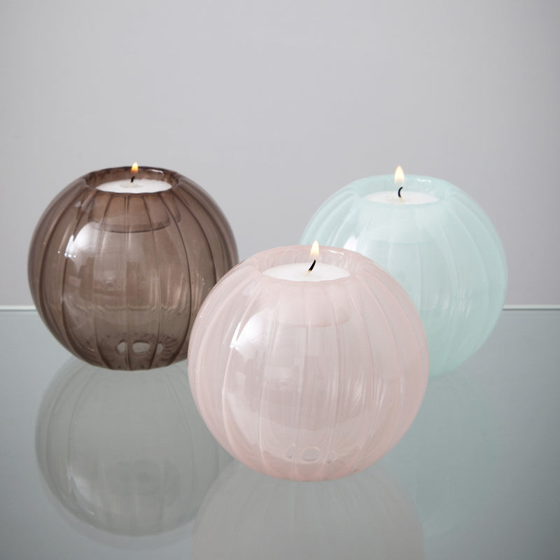 Nel Lusso Glass tealight holders