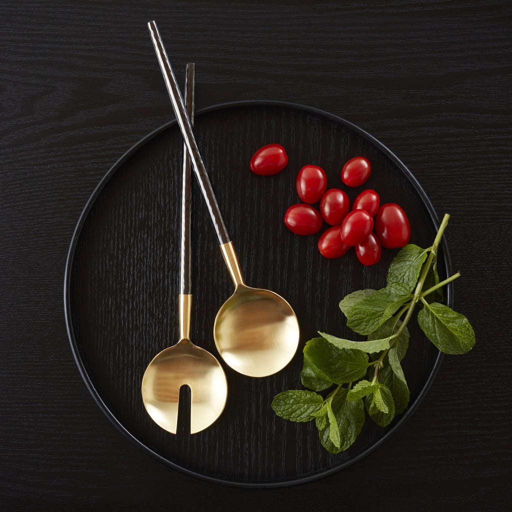 Nel Lusso Santo Salad Servers - PRE-ORDER FOR JANUARY 2021