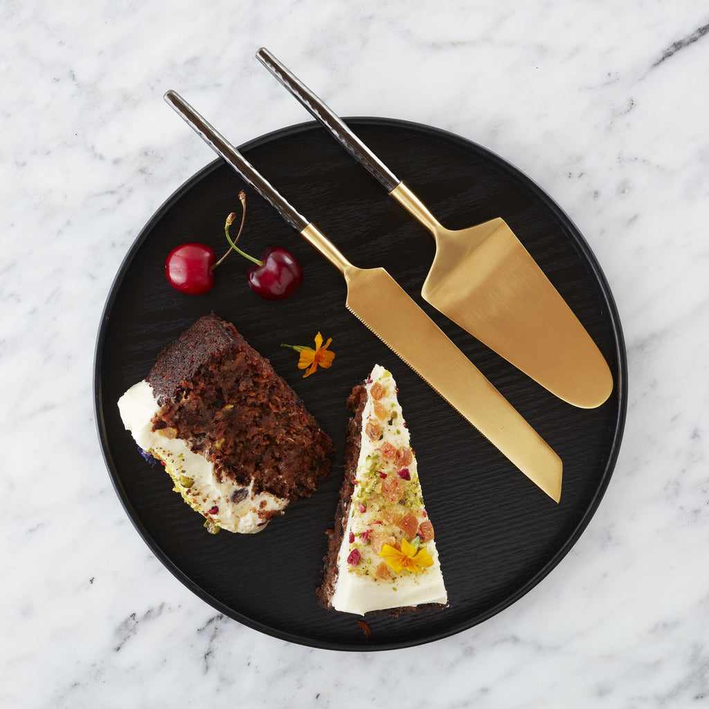 Nel Lusso Santo Cake and Knife Set