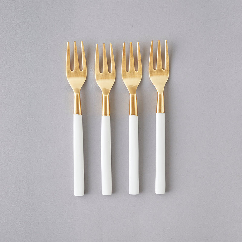 Nel Lusso Bianco Cake Fork Set of 4