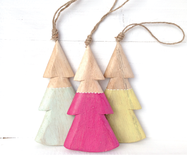 Nel Lusso Wooden Xmas Trees
