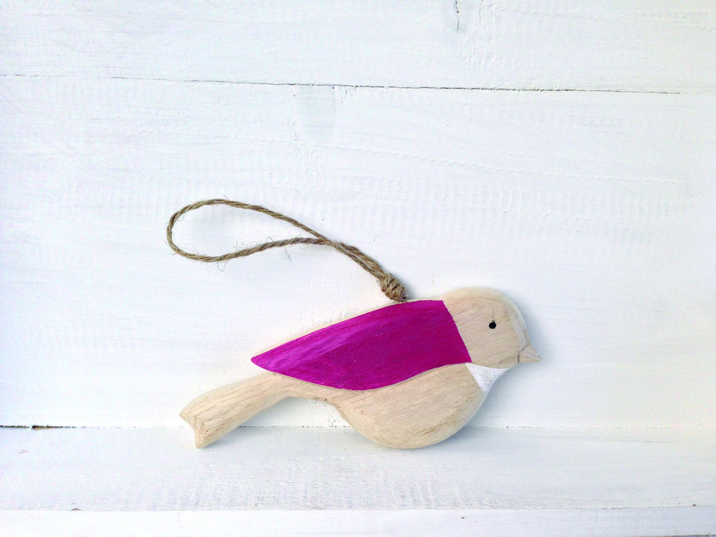 Nel Lusso wooden bird decoration