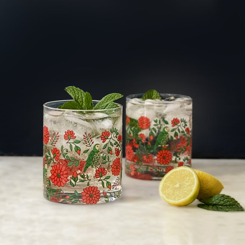 Floral Fiesta Set of 4 Glasses - PRE-ORDER FOR DELIVERY FROM APPROX LATE SEPT