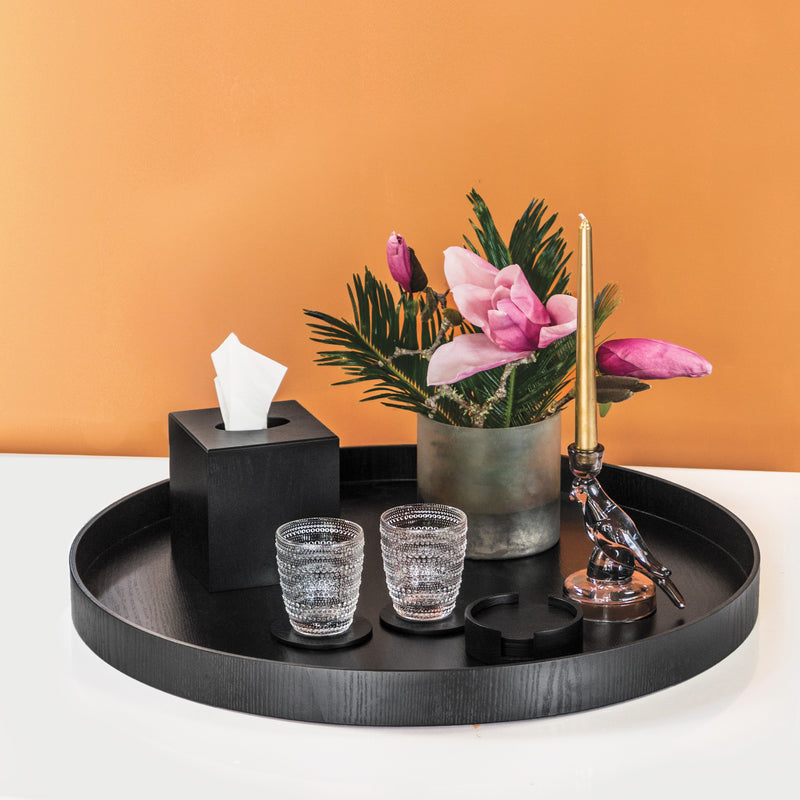 Nel Lusso Tokyo 6 Piece Black Coaster Set - PRE-ORDER FOR LATE OCT DELIVERY