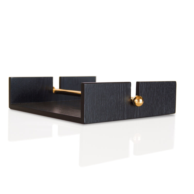 Nel Lusso Tokyo Napkin Holder with brass retainer - Pre-order for Mid October