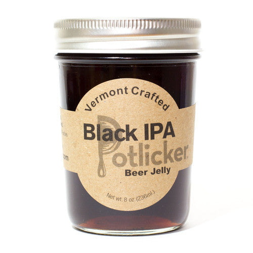 Vermont Black IPA Beer Jelly 8 oz Jar