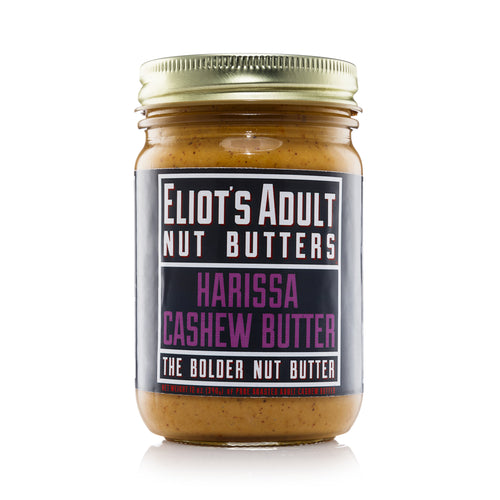 Eliot's Adult Harissa Cashew Butter, 12 Ounce Jar