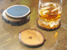 Reclaimed Beechwood Reversible Coasters
