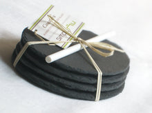 Round Salvaged Black Slate Coasters