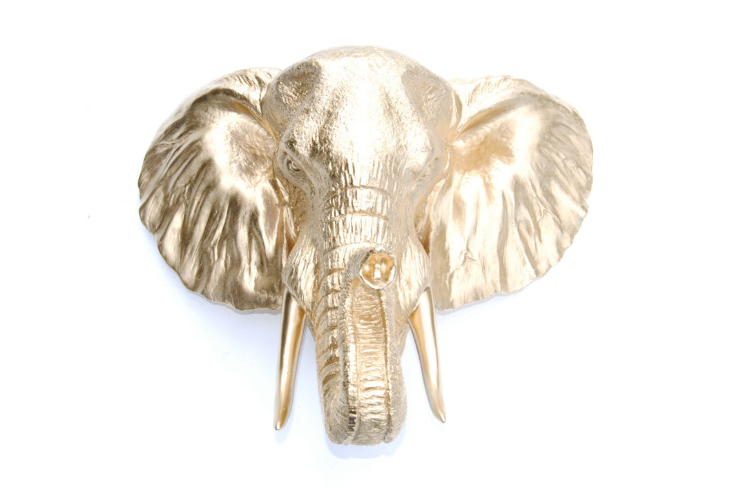Faux Taxidermy Elephant Head Wall Mount