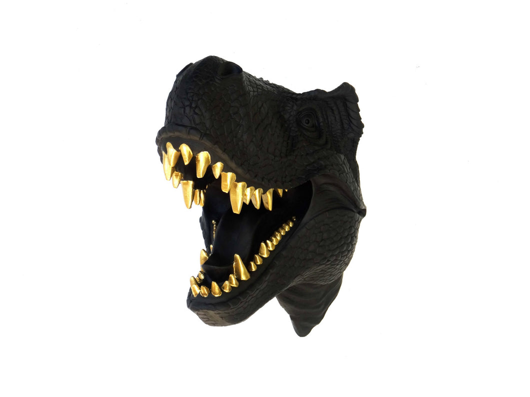 Faux Taxidermy T Rex Dinosaur Head Wall Mount