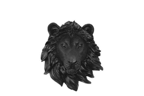 Faux Taxidermy Small Lion Head Wall Mount