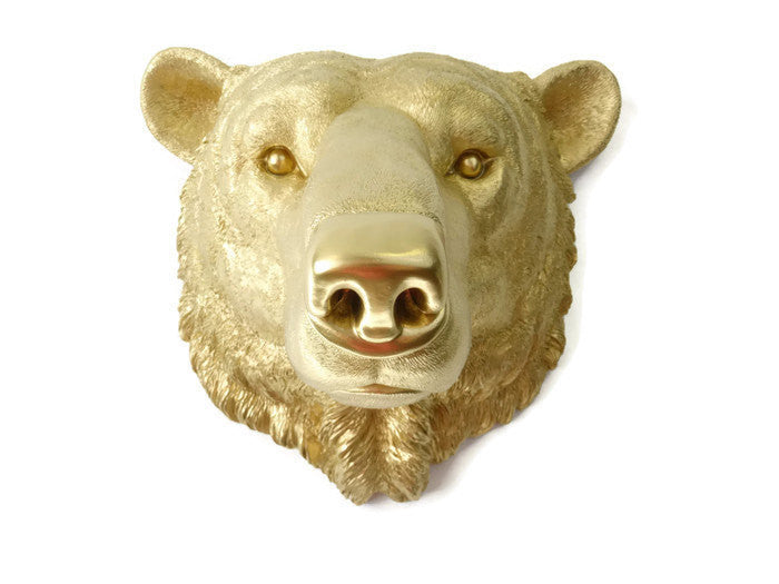Faux Taxidermy Polar Bear Wall Mount