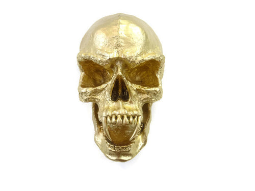 Faux Taxidermy Large Gothic Skull Wall Mount