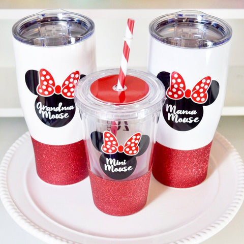 Mama Mouse - Grandma Mouse - Minnie Mouse Stainless Steel Travel Mug / Tumbler