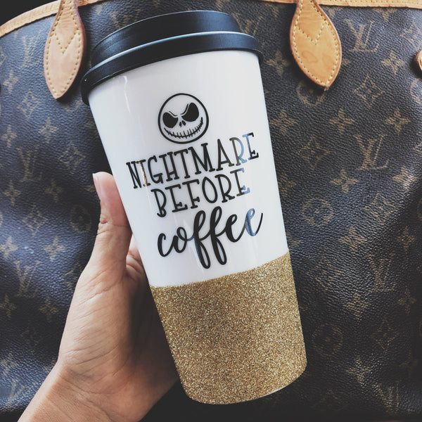 Nightmare Before Coffee - Halloween Coffee Travel Mug